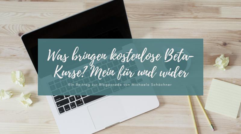 Beitragsbild Beta-Kurse Blogparade