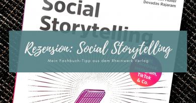 Beitragsbild Rezension Social Storytelling Rheinwerk Verlag