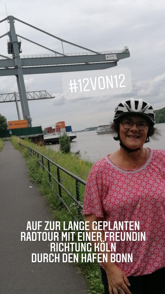 Mit dem Rad den Rhein entlang Richtung Köln